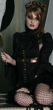 LIP SERVICE STEP IN TIME - TOP WITH LACE DETAILS - BLACK/BRONZE - STEAMPUNK