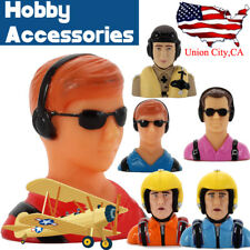 Hobby Accessories Bust Fighter Pilot Model Toy for RC Plane 1/3 1/6 1/10 Scale