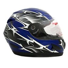Street Bike Full Face Motorcycle Helmet Clear Shield Smoked Shield DOT Approved