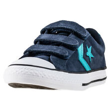 Converse Star Player Ev 3v Ox Kids Trainers Navy Teal New Shoes