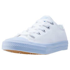 Converse Chuck Taylor All Star Ii Ox Kids Trainers White Blue New Shoes