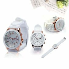 Womens Mens Geneva Fashion Silicone Jelly Gel Watchband Wrist Watch Wristwatch