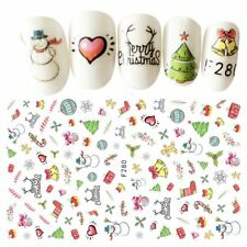 Christmas Stereoscopic 3D Nail Sticker Nail Water Decals Female Lady Beauty Tool