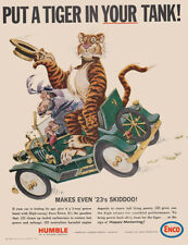 1965 Humble Oil: Put a Tiger in Your Tank Vintage Print Ad
