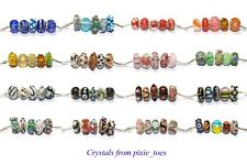 Five Mixed Big Hole Beads fit European Charm Bracelet or Necklace - You Choose 5