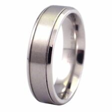 316L Stainless Steel Simple Classic Wedding Ring 6mm Wide Band Size 6.5-13