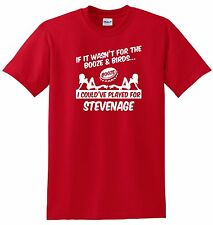 STEVENAGE FAN THEMED BOOZE AND BIRDS T-SHIRT