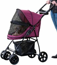 Small Pet Stroller Cat Puppy Dog Walk Jogger Travel Folding Carrier 3 Color New