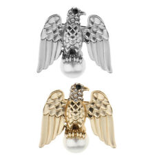 Wedding Fashion Eagle Brooches Pins Pearl Crystal Armbands Jewelry Gifts