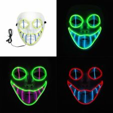 EL Luminous Mask Cold Light Cosplay Mask Halloween Party LED Mask For Dance WD