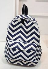 New Fashion Style Designer Striped Zipper Backpack For Teen Girl