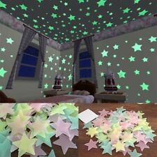 100X Glow In The Dark Stars Wall Sticker Kids Bedroom Nursery Room Ceiling Decor