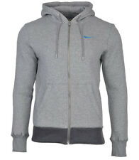 Nike Mens Fleece Lined Hooded Sweatshirt Jumper Full Zip  Grey