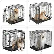MidWest iCrate Single/Double Door Folding Metal Dog Crate 22/24/30/36/42/48 inch