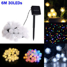 Solar Powered Waterproof 6M 30LEDs Ball String Fairy Light Garden Party Decor