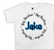 Personalized new big brother shirt sibling tshirt big brother clothes t shirt