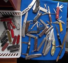 Lot of 50  VINTAGE  Pocket Knives - Some for parts or repair. Check them out !