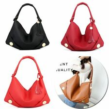 Women Large Shoulder Bag Tassel Hobo Tote Messenger Lady PU Leather Fashion 2018