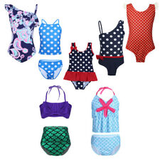 Kids Girls Bikini Swimwear Swimsuit Bather Swimmer Swimming Costume Bathing Suit