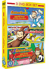 Curious George - The Movie- Curious George - Rocket Ride + Other 3DVD NEW SEALED