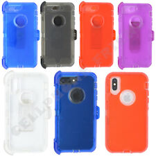 for Apple iPhone 6 Plus 6S Plus Clear Case Cover(Clip fits Otterbox Defender)