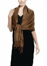 Peach Couture Soft and Silky Bamboo Rayon Pashmina Feel Shawl Scarf Wrap