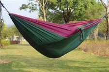 2 Person Hammock Tent Parachute Camping Mosquito Outdoor Hiking Travel Sleeping