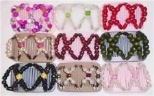 """Double Magic Mini Hair Combs, Angel Wings Clips 3x2.5"""", Best Quality MC10"""