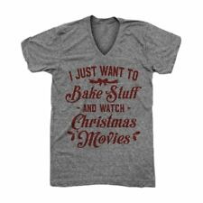 Women's Plus Size Bake Stuff And Watch Christmas Movies T-Shirt Tops Blouse