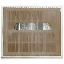 Emelia Sheer Voile Kitchen Curtain - Taupe Tiers, Swags, Valances - NEW !