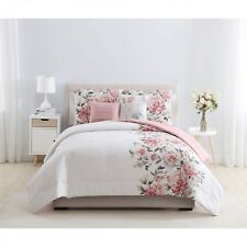 Pink Floral Shearwater 5-Piece Bedding Comforter Set