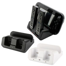 Charger Docking Station +2x Battery Pack For WII & WII U Remote Gamepad TP