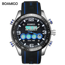 Military Men Sport Watch Fashion Rubber Watches LED Digital Display Wristwatches
