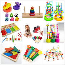 Wooden Toy Gift Baby Kids Intellectual Developmental Educational Early NP