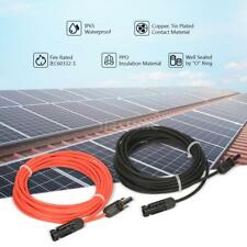 20ft &10ft Solar Panel Extension Cable 10awg Pv Wire W/ M/F MC4 Connector X0V1
