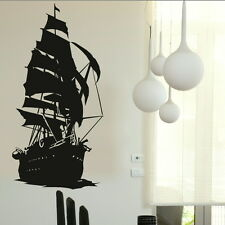 Sailing Ship Large Vinyl Transfer / Nice Giant Removable Wall Stickers RA136