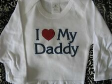 I love my Daddy baby shirt infant tshirt daddy clothes baby one piece bodysuit