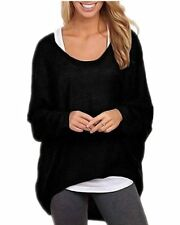 Casual Top ZANZEA Women's Sexy Long Batwing Sleeve Loose Pullover Blouse T-Shirt