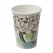 Dixie PerfecTouch 5342CD Insulated Paper Hot Cup, New Coffee Design, 12 oz Case