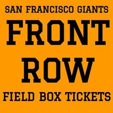 FRONT ROW TICKETS · SAN FRANCISCO GIANTS vs SAN DIEGO PADRES · THURSDAY JUNE 21