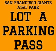 PARKING PASS LOT A · SAN FRANCISCO GIANTS vs SAN DIEGO PADRES · SATURDAY JUNE 23