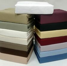 1000 TC Best Egyptian Cotton Bed Sheet Set/Fitted /Pillow Case All Solid Colors
