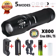 Military 15000 Lumen G700 LED Zoom Flashlight X800 Lumitact Torch Battery Charge