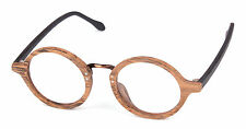Round Optical Handmade Vintage Retro Wood Frame Eyeglass Frames Spectacles RX