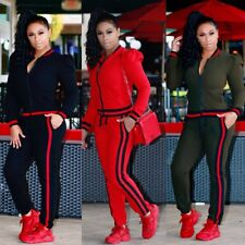 2Pcs Women Tracksuit Hoodies Sweatshirt Pants Sets Sport Wear Jogging Sweat Suit
