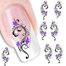 Flower Pattern Nail Tips Decal Water Transfer Toe Decor Nail Art Sticker