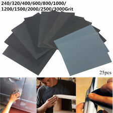 25pcs 230mm x 280mm Silicon Carbide Waterproof Sandpaper 240-3000 Grit Sanding