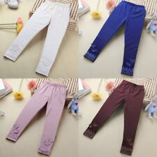 Baby Kids Girls Tight Pants Lace Butterfly Warm Stretchy Leggings Trousers Pants