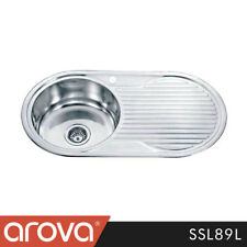 Stainless Steel Kitchen Sink Single Bowl With Drainer Counter Top Sink - SSL89L