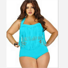 2017 Plus Size Swimwear Bikini Set Sexy Women High Waist Swimsuit Tassel